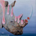Tableau Rhinocéros de Raymond-Altes
