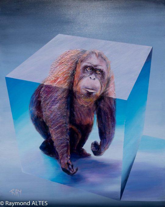 Le dernier orang outan- Tableau de Raymond ALTES